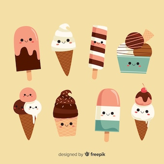 Kawaii summer ice cream collection