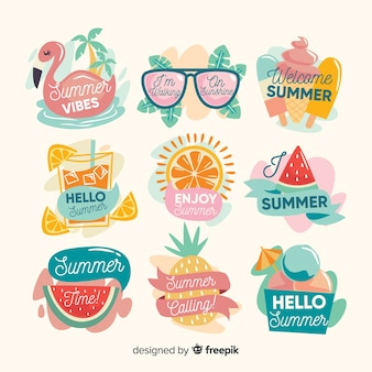 Kawaii summer sticker collection