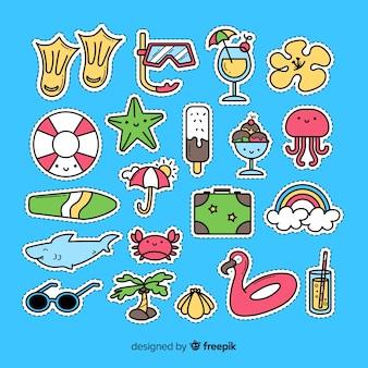 Kawaii summer sticker collection