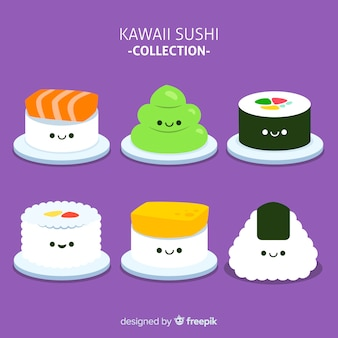 Kawaii sushi pieces pack