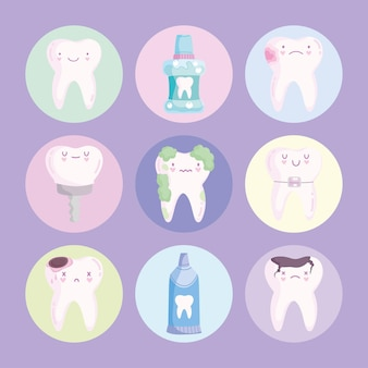 Kawaii зубы и инструменты