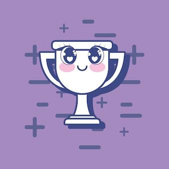 Kawaii trophy icon