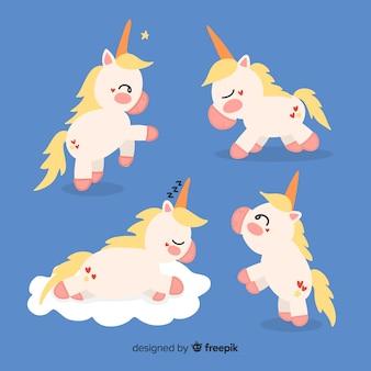 Kawaii unicorn character collectio