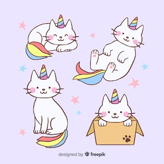 Kawaii unicorn character collection