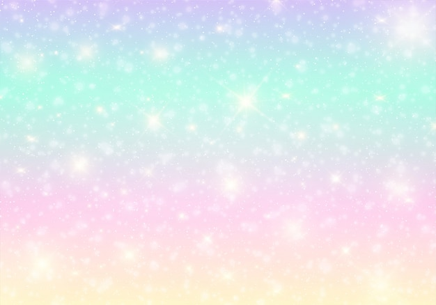 Kawaii universe banner in princess colors.
