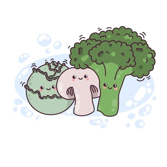 Kawaii vegetables