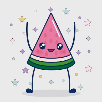 Kawaii watermelon icon
