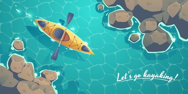 Kayak adventure background design
