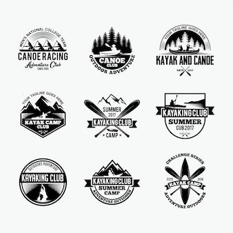 Kayak and canoe badges stickers
