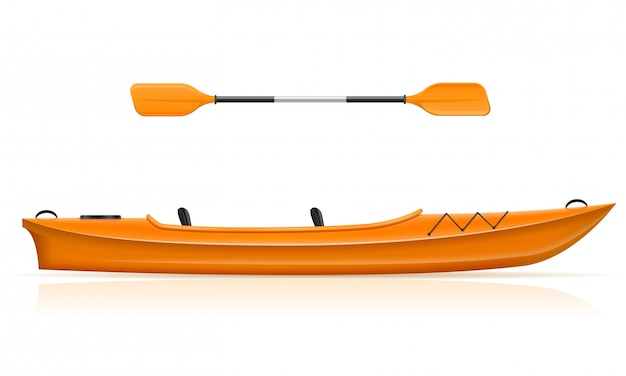 Каяк из пластика для рыбалки и туризма.