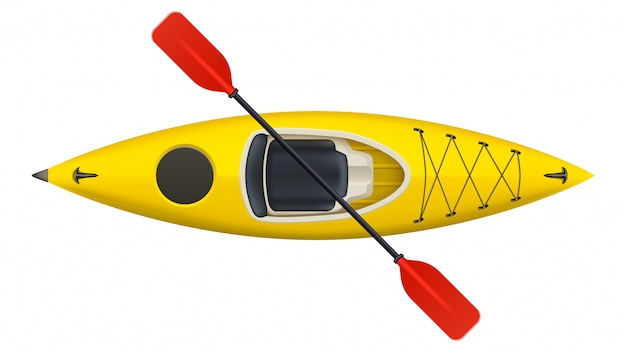 Kayak isolated on white