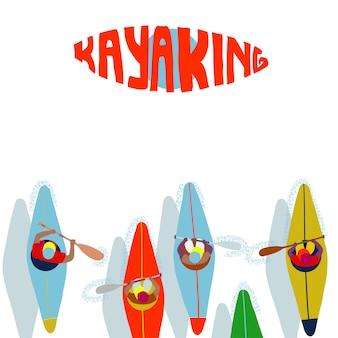 Kayaking, water sport.