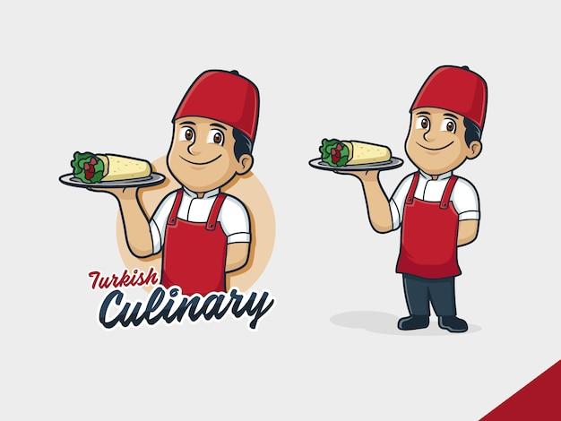 Логотип шеф-повара кебаба