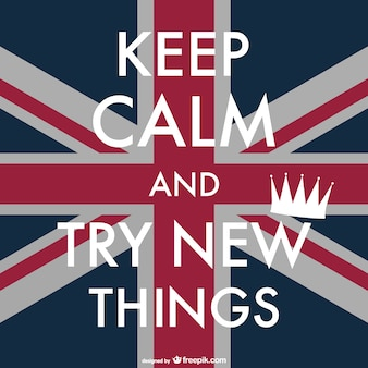 Keep calm british poster