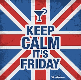 Keep calm friday design