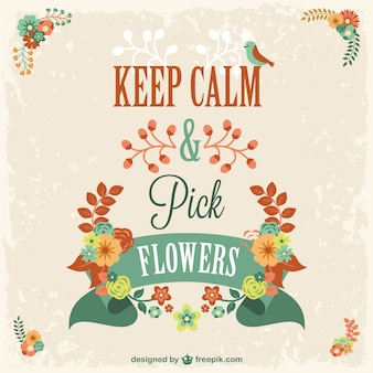 Keep calm and pick flowers design