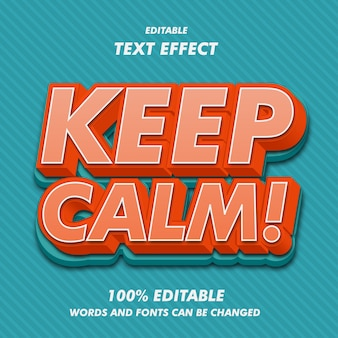 Keep calm text effects