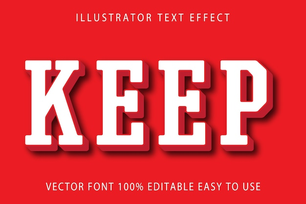 Keep editable text effect
