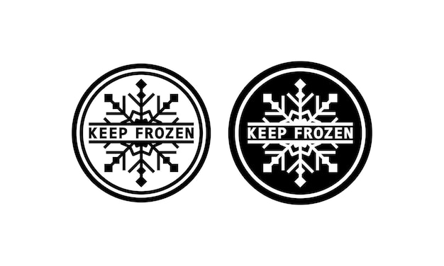 Keep frozen sign in black. warning. refrigerant. vector on isolated white background. eps 10.