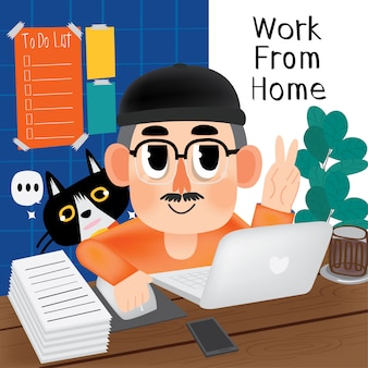 Keep going to work from home