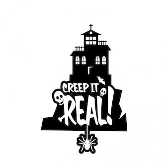 Keep it real typography design vector