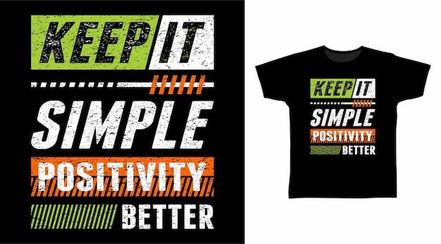 심플한 타이포그래피 티셔츠 디자인 유지