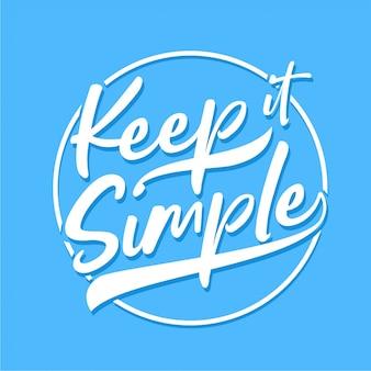 Keep it simple - типография
