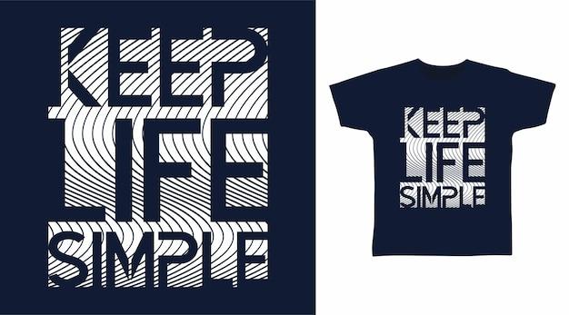 삶을 단순하게 유지하는 타이포그래피 디자인