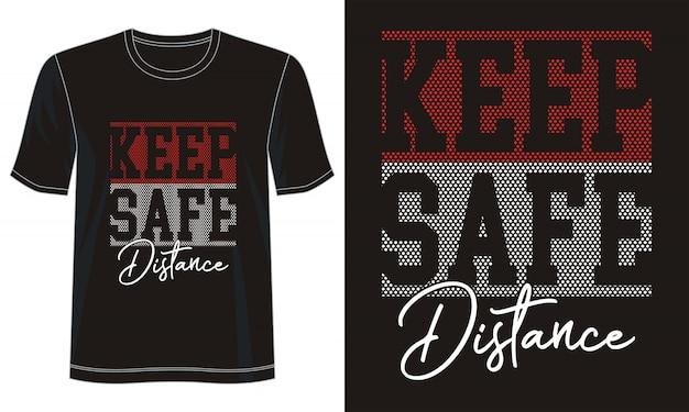 プリントtシャツのタイポグラフィを安全な距離に保つ