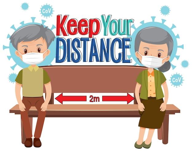 漫画のキャラクターであなたの距離バナーを保ちます