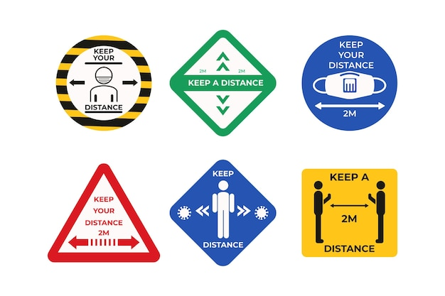 Keep your distance sign collection