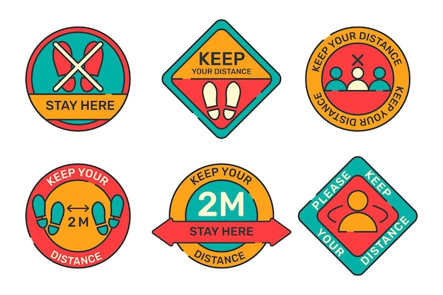 Keep your distance sign pack concept