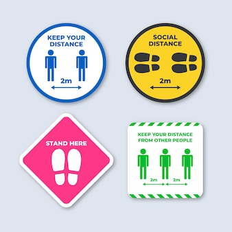 Keep your distance sign pack