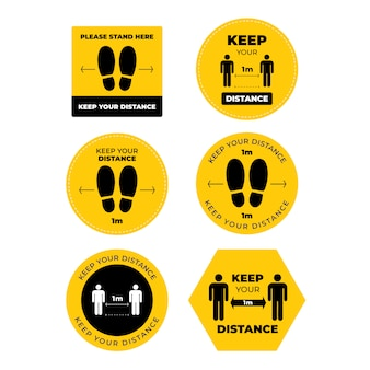 Keep your distance sign set