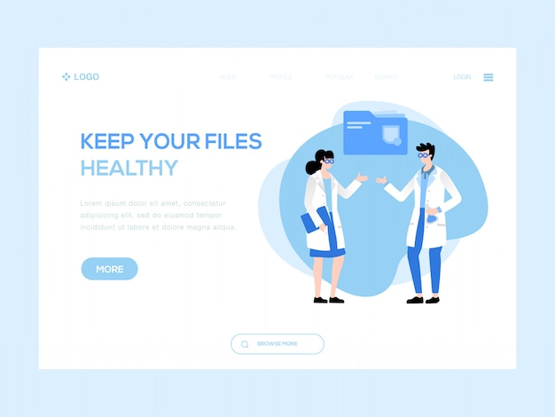 Keep your files healthy web illustration