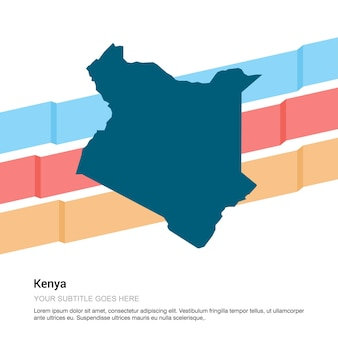 Kenya map design with white background vector