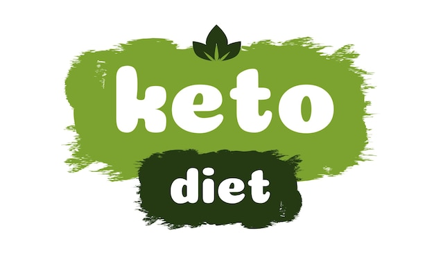 Keto diet friendly nutrition vector symbol on green organic texture isolated on whiteketogenic diet