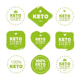 모든 목적을 위한 케토 다이어트 훌륭한 디자인 식품 로고 팔레오 다이어트 건강한 식생활 개념