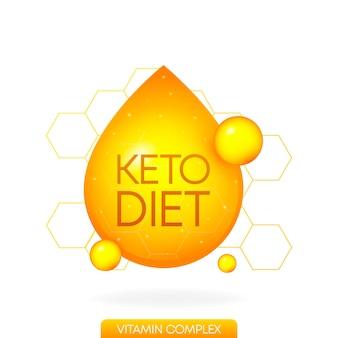 모든 목적을 위한 케토 다이어트 훌륭한 디자인 식품 비타민 로고 팔레오 다이어트 건강한 식생활 개념