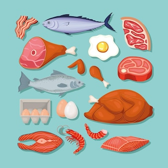 Keto diet icons