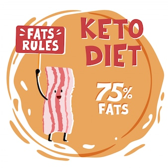 Ketogenic diet concept illustration.