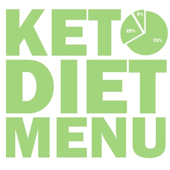 Ketogenic diet macros diagram, low carbs, high healthy fat vector illustration for infographic title or menu Premium Vector