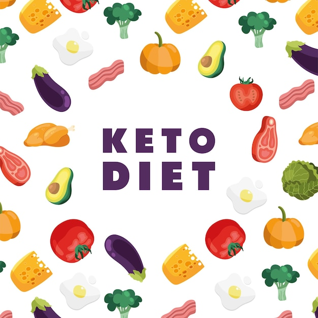 Ketogenic food pattern and lettering