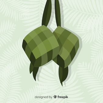 Ketupat background in flat design