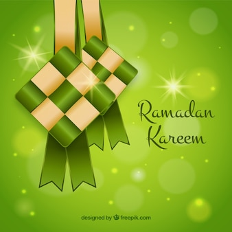 Ketupat background in flat design