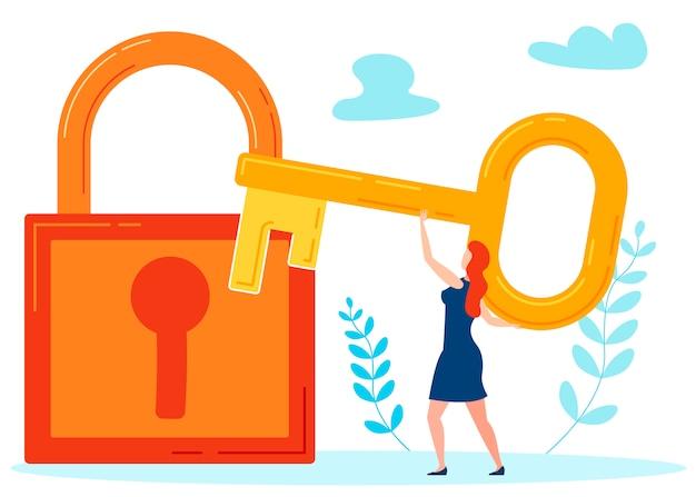 Key to hidden secrets metaphor