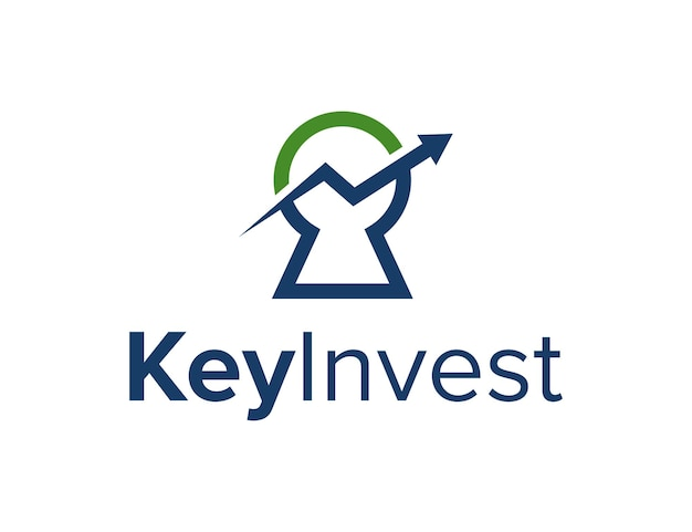 Key hole with up arrow simple sleek creative geometric modern logo design