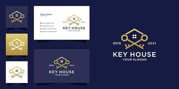 Key house logo and business car