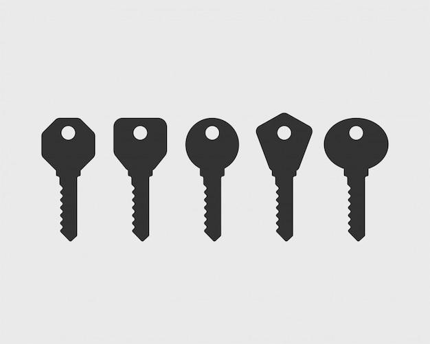 鍵のアイコン。キー記号。