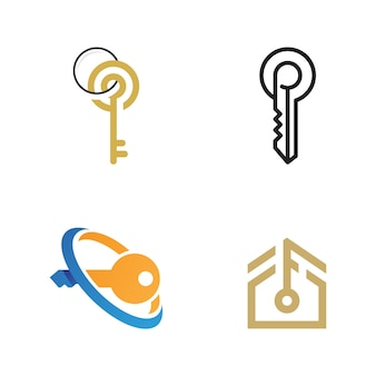 Key icon vector illustration design template